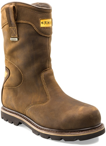 B701SMWP SB P HRO SRC Crazy Horse Leather Goodyear Welted Waterproof Safety Rigger Boot with Ankle Support