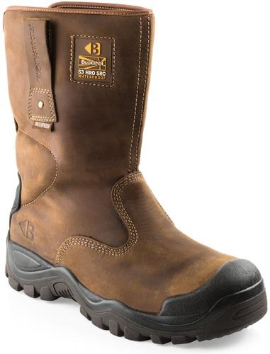 BSH010 S3 HRO SRC WRU Brown Safety Rigger Boot