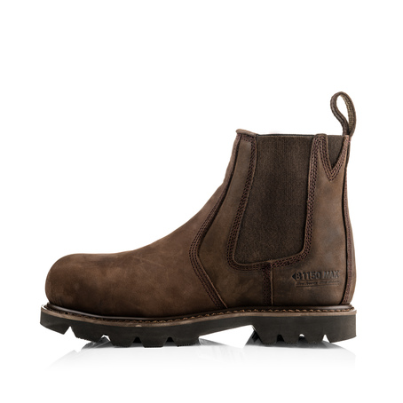 B1150 SB P HRO SRC Brown Chocolate Oil Buckflex Safety Dealer Boot