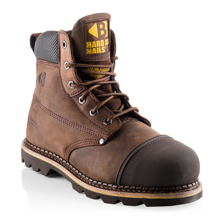 B301 SB P HRO SRC Chocolate Oil Leather Goodyear Welted Safety Lace Boot