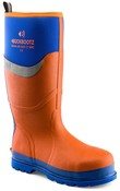BBZ6000 S5 Orange/Blue Neoprene/Rubber Heat and Cold Insulated Safety Wellington Boot